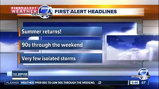 Warmer and drier through the weekend - Video