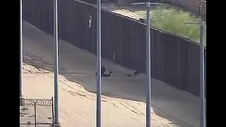 Border patrol video shows teen getting hurt falling from 18-foot fence