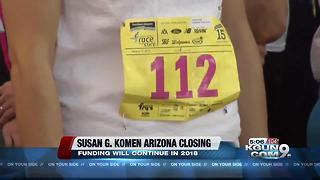 Arizona chapter of Susan G. Komen to shut down July 31, Race for the Cure fundraiser canceled - Video