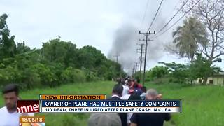 Cuban plane crash - Video