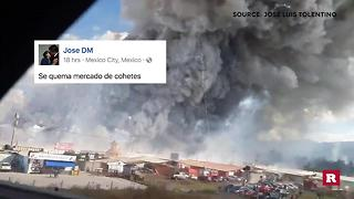 Man captures deadly fireworks explosion in Mexico on camera | Rare News - Video