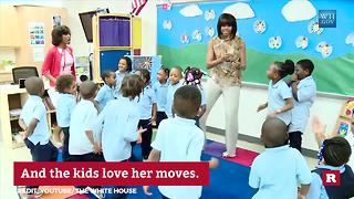 First Lady Michelle Obama loves to dance | Rare Politics - Video