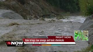 Rain brings raw sewage and toxic chemicals - Video