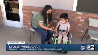 Young boy's custom wheelchair stolen from vehicle in Avondale