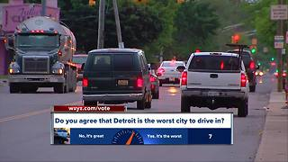 Detroit named worst city to drive in, according to study - Video