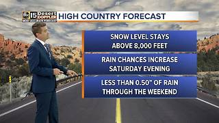 Slight chance for rain this weekend in the Valley - Video