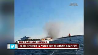 Casino boat fire - Video