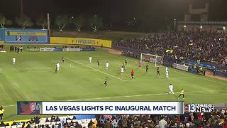 Las Vegas Lights lose Saturday inaugural match