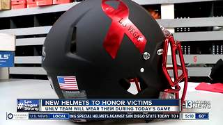 UNLV to wear new helmets to honor mass shooting victims - Video