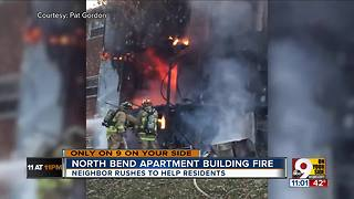 Neighbor saves residents from North Bend apartment fire - Video