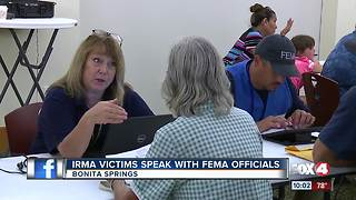 Irma victims speak with FEMA officials - Video