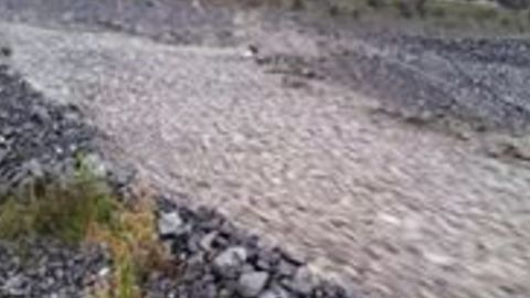 Heavy Rain From Ex-Cyclone Gita Turns Rakaia River into a River of Rock
