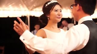 Bride and groom's epic first wedding dance