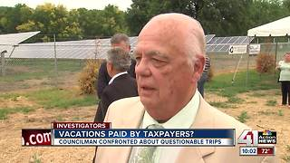 Councilman refuses to explain costly travels - Video