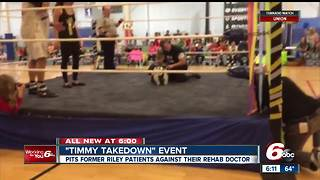 Children with special needs wrestle their rehab doctors - Video