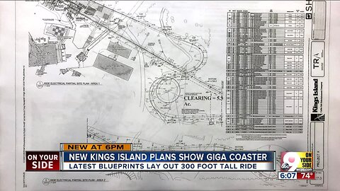 New Kings Island blueprints show 300-foot giga coaster