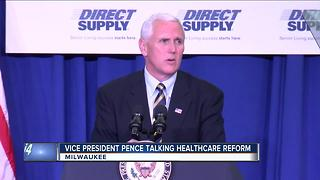 Pence promises end to Obamacare during Milwaukee visit - Video