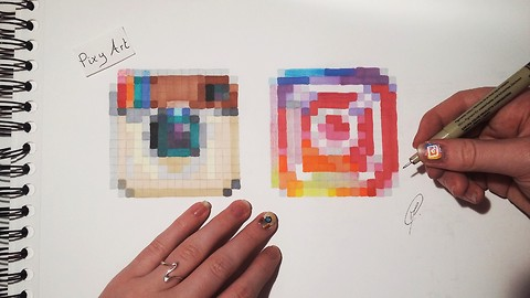 How to draw pixel versions of social media icons