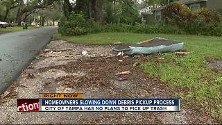 Curbside junk slowing down Tampa Irma debris pickup - Video
