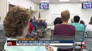 Chief Diggs talks to citizens - Video