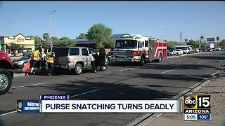 Purse snatching turns deadly after suspects cause a crash - Video