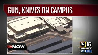Student found with gun, knives on Estrella Foothills High School campus