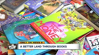 Lakewood High School students collect books for kids in Cleveland who don't have them