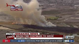 Several acres burning at Wetlands Park - Video