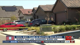 Man says he burned buried body found in backyard