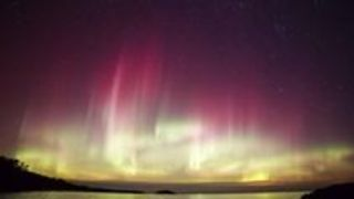 Timelapse Captures Northern Lights Over Marquette, Michigan - Video