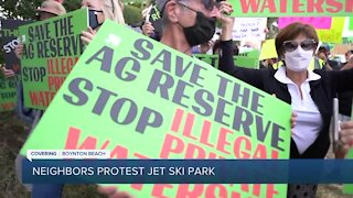 Neighbors protest water ski park near Boynton Beach