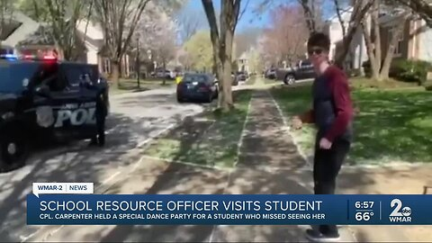 Boy misses Anne Arundel SRO, so officer visits him and holds special dance party