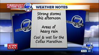 Friday forecast: Afternoon storms, flash flood watch - Video