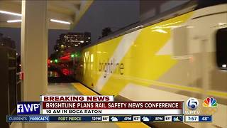 Brightline holding news conference in Boca Raton to address safety concerns - Video