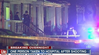 One person seriously hurt in overnight shooting - Video