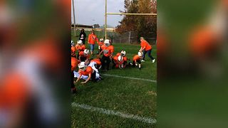 Kid's Football Team Makes Epic Entrance - Video