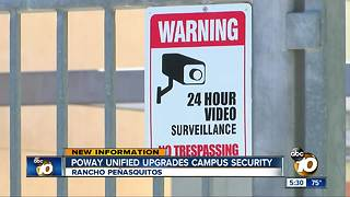 Poway unified upgrades campus security - Video