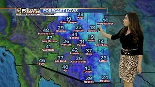 Cool day and night ahead for Valley - Video