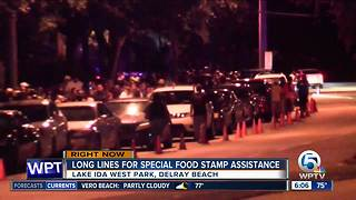 Traffic jams greet residents at food assistance sign up sites in Palm Beach County - Video