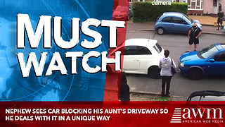 Nephew See's Car Blocking His Aunt's Driveway So He Deals With It In A Unique Way