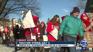 Live updates from day two of the Denver teacher strike