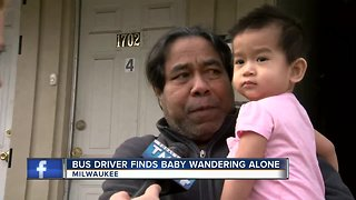 MCTS bus driver saves 1-year-old left alone on freeway overpass - Video