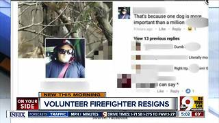 Franklin Township firefighter who would save dog before black person resigns - Video