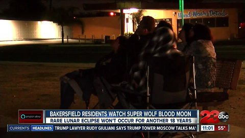 Bakersfield residents look to the skies to watch rare lunar eclipse