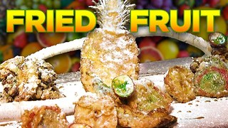 Tropical Fruit Tempura with Fun Dip Frosting! | Deep Fried Crazy! - Video