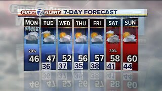 Metro Detroit Forecast: Breezy and cloudy; warming up again this week