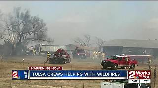 Tulsa crews help battle wildfires - Video
