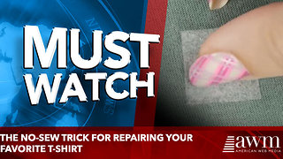 The No-Sew Trick for Repairing Your Favorite T-Shirt - Video