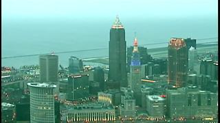 Morning view of Cleveland - Video
