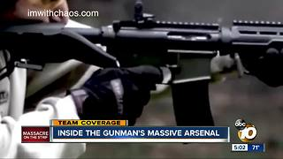 Inside the gunman's massive arsenal - Video